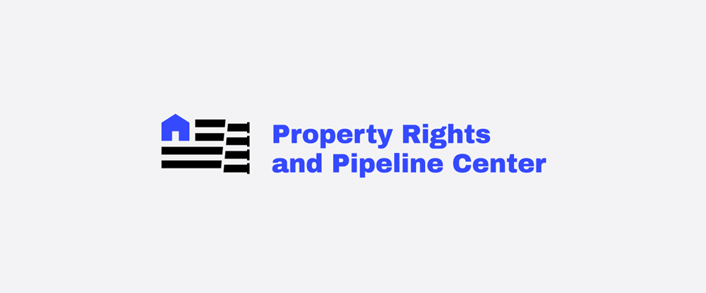 New Logo and Identity for Property Rights and Pipeline Center by OrangeYouGlad