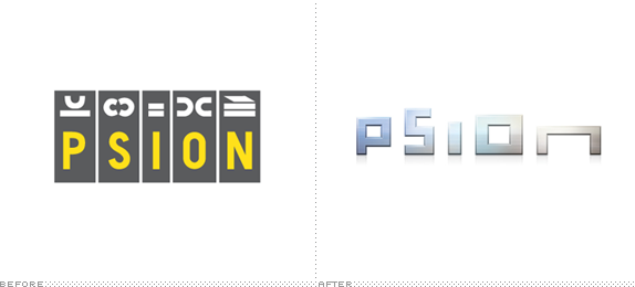 Psion Logo, Before and After