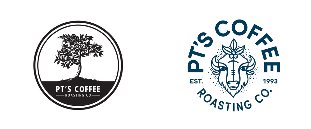 New Logo, Identity, and Packaging for PT's Coffee Roasting Co. by Carpenter Collective