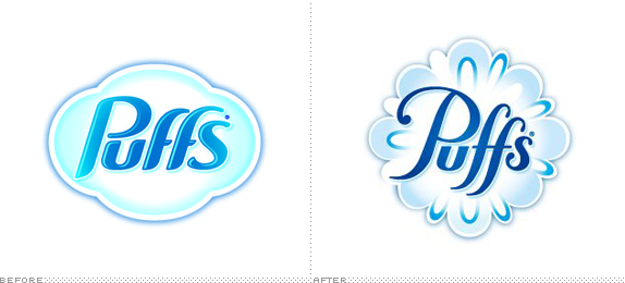 Puffs Logo, Before and After