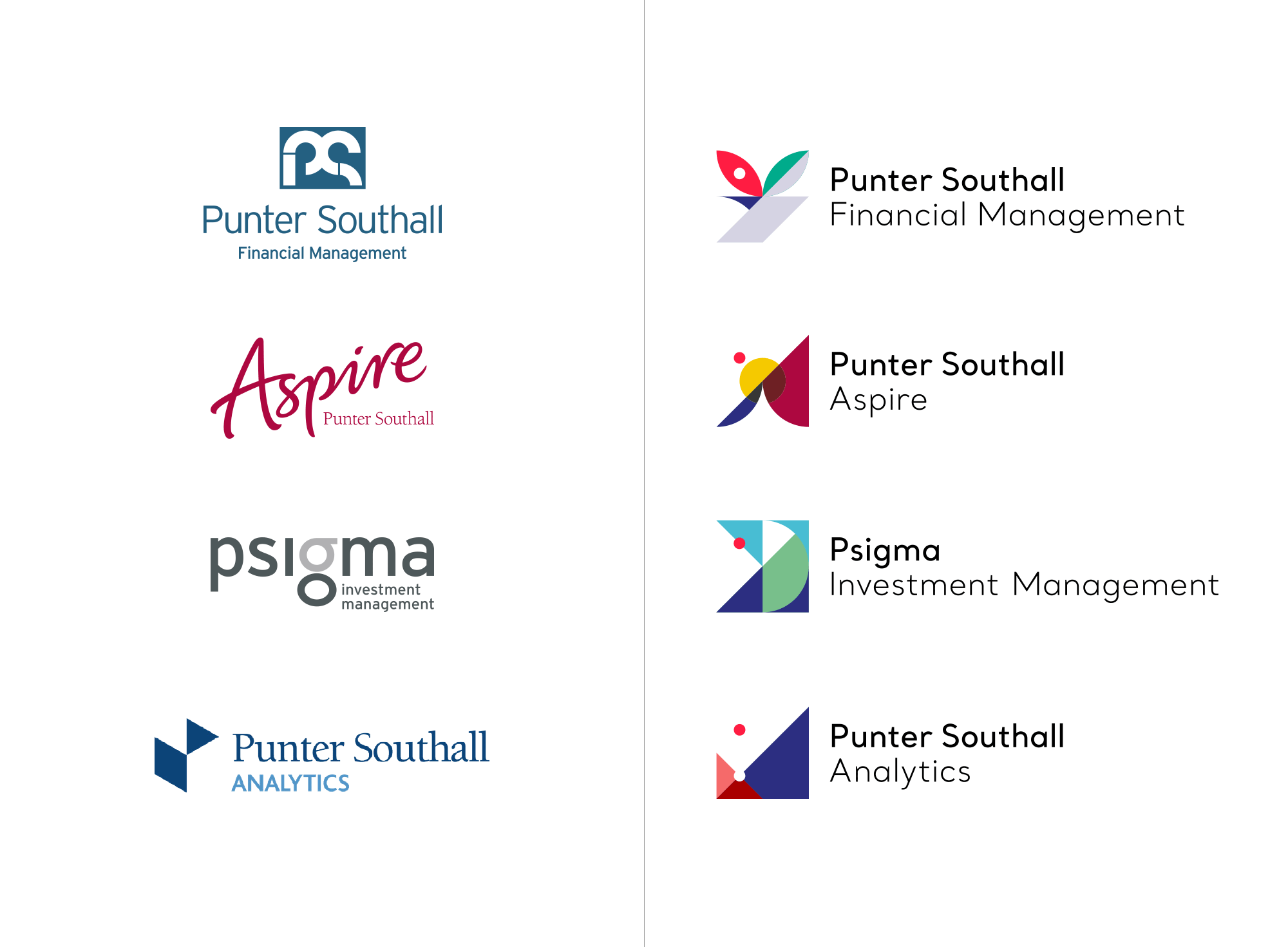New Logo and Identity for Punter Southall Group by Future Kings