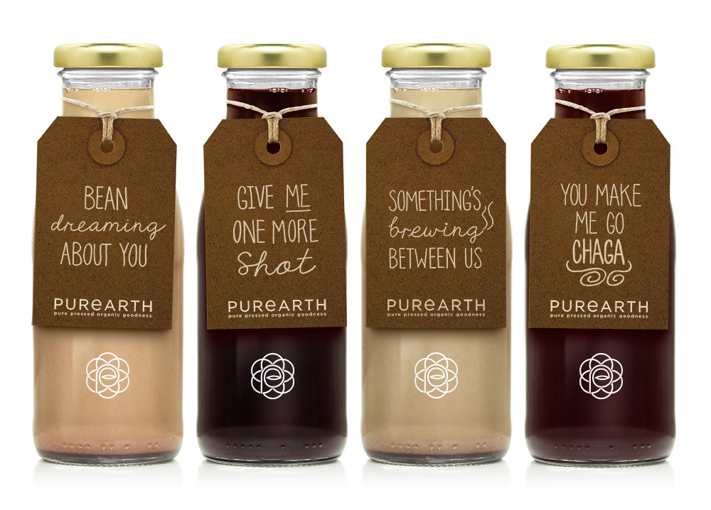 brand new  new logo and packaging for purearth by afterhours