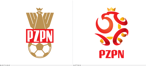 PZPN Logo, Before and After