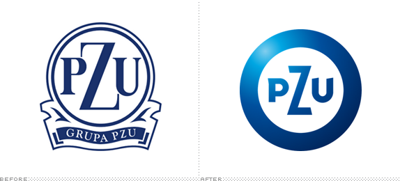 PZU Logo, Before and After