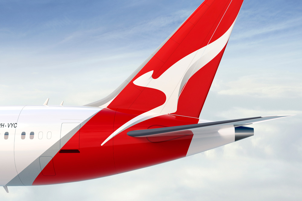 Brand New New Logo Identity And Livery For Qantas By Houston Group