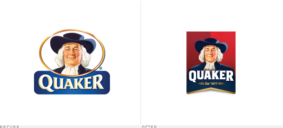 Quaker Logo, Before and After