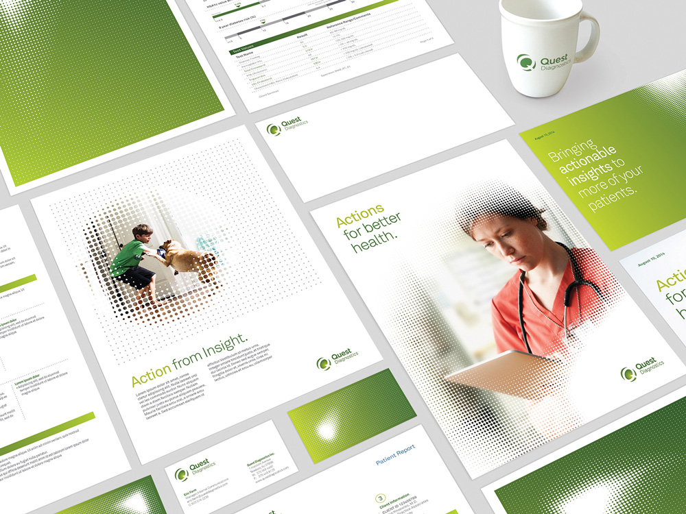 New Logo and Identity for Quest Diagnostics by InterbrandHealth