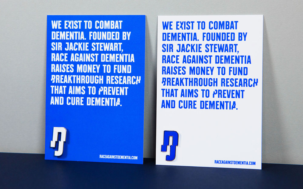 New Logo and Identity for Race Against Dementia by Brand Union
