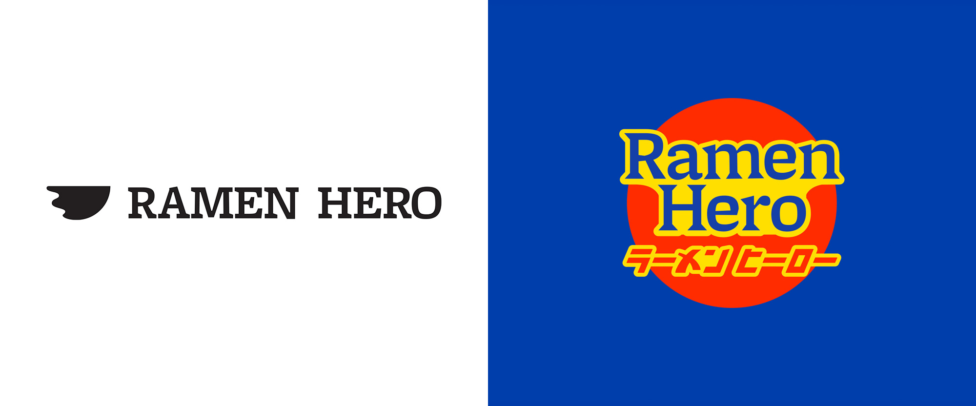 New Logo, Identity, and Awesome Cowboy for Ramen Hero by Iyashi