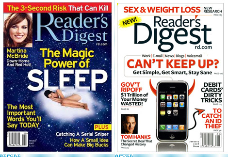 Reader's Digest Covers, Before and After