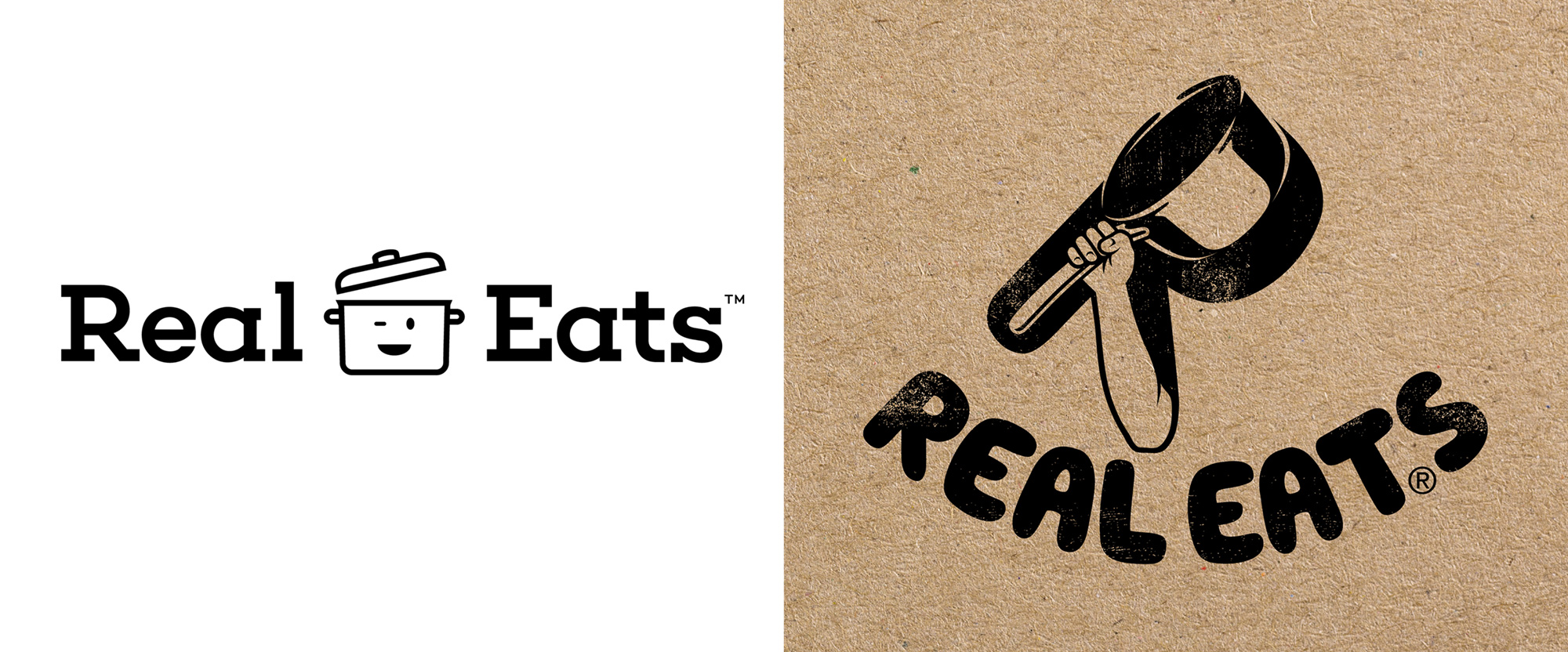 New Logo and Identity for RealEats by SoreThumbStudio