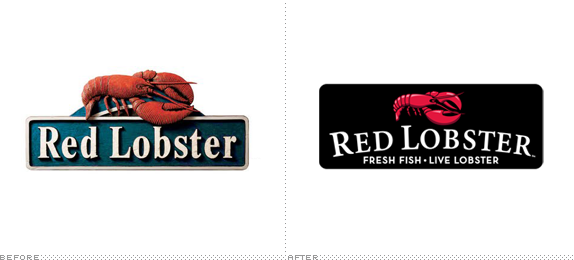 Red Lobster Logo, Before and After