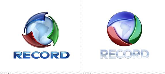 Rede Record Logo, Before and After
