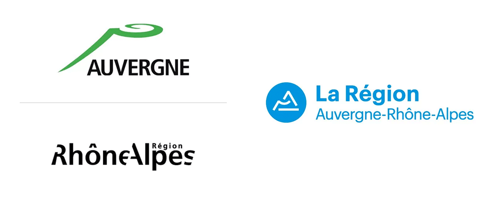 New Logo and Identity for Region Auvergne-Rhône-Alpes by Graphéine