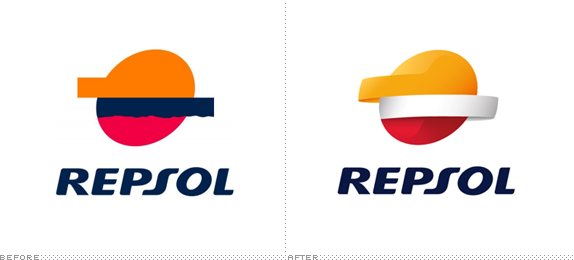 Repsol Logo, Before and After