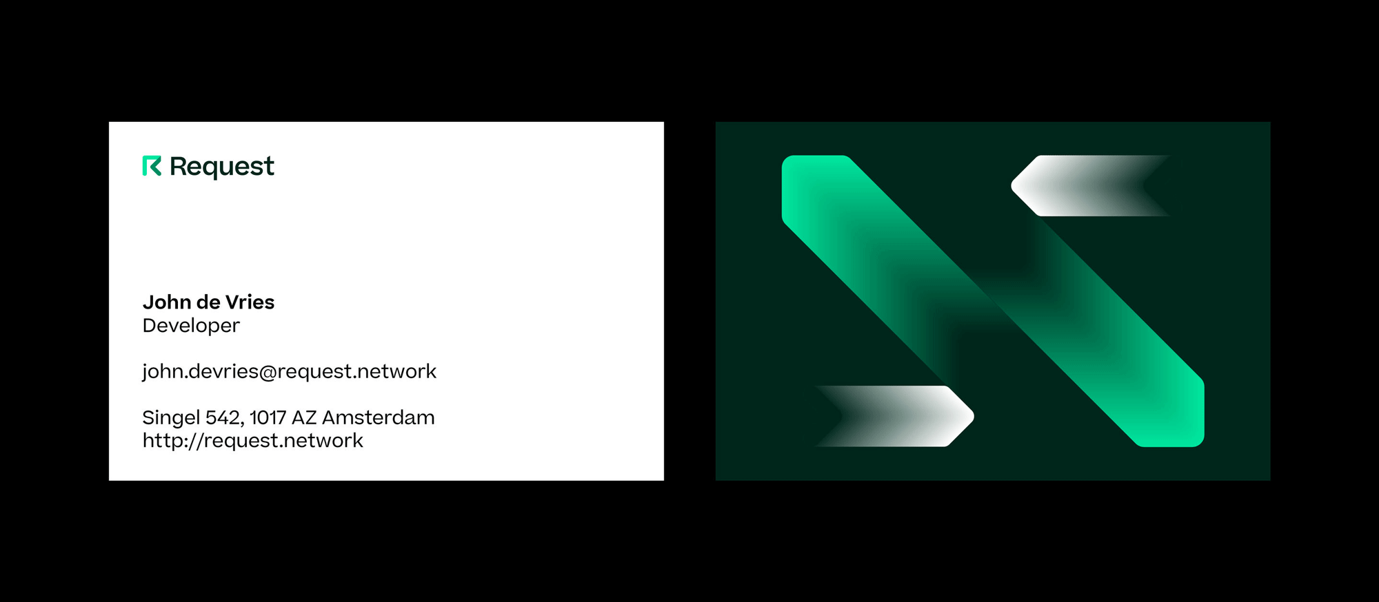 New Logo and Identity for Request by Studio Dumbar