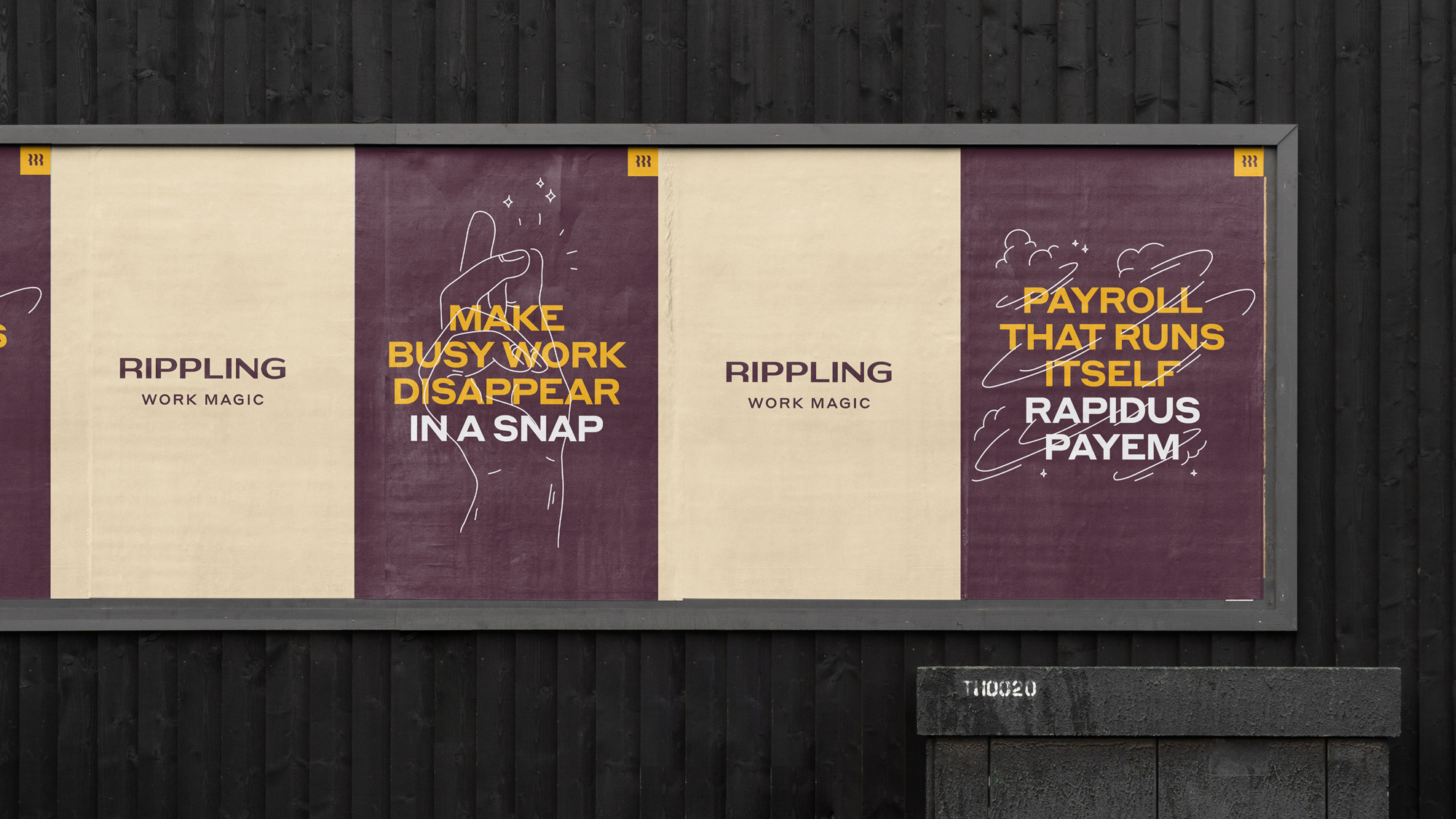 New Logo and Identity for Rippling done In-house
