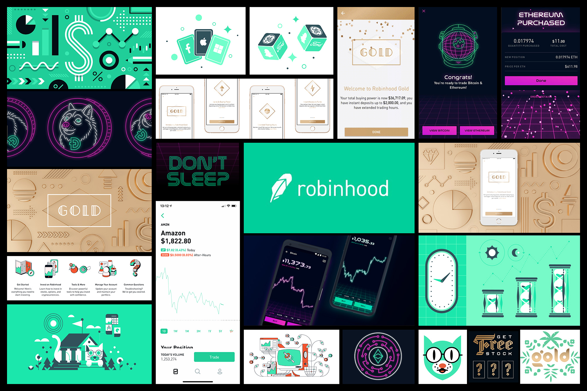 New Logo and Identity for Robinhood by COLLINS