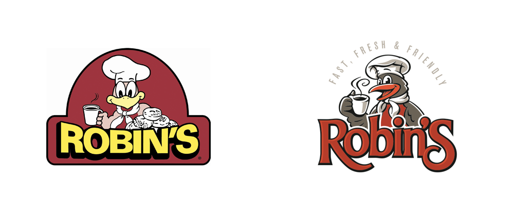 brand new: new logo for robin's donuts