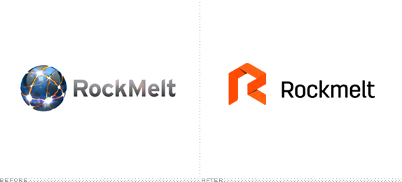 Rockmelt Logo, Before and After