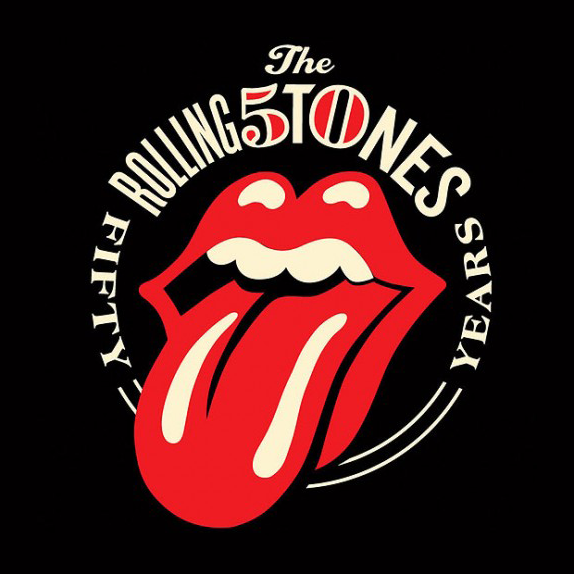 Rolling Stones 50th Anniversary Logo, Before and After