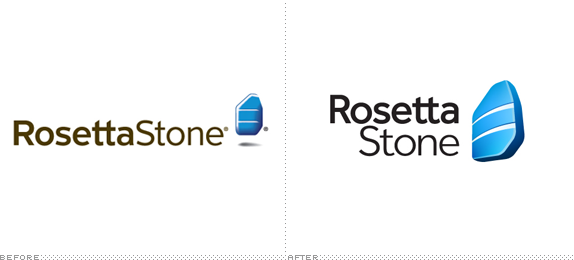 Rosetta Stone Logo, Before and After