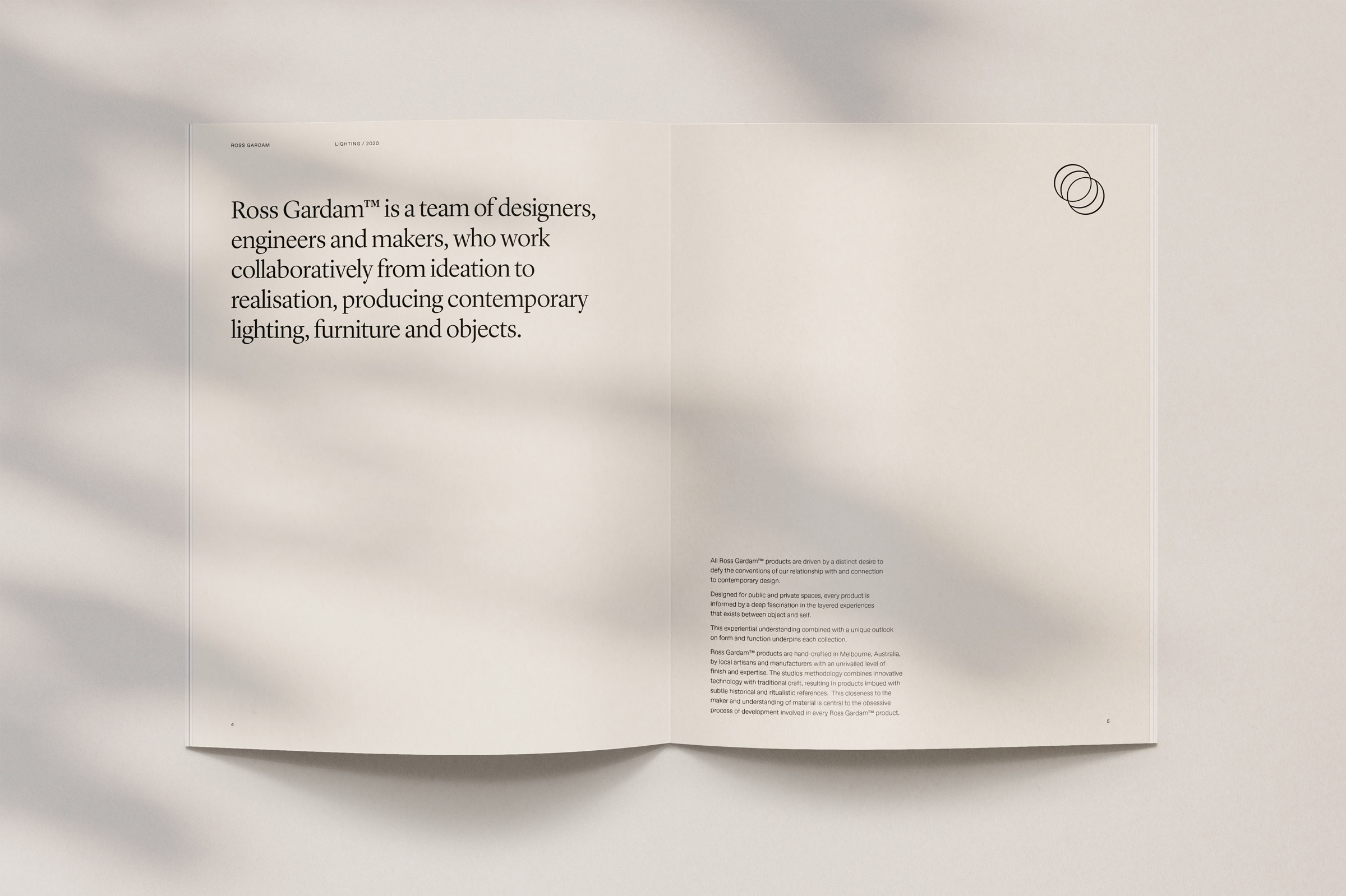New Logo and Identity for Ross Gardam by SouthSouthwest