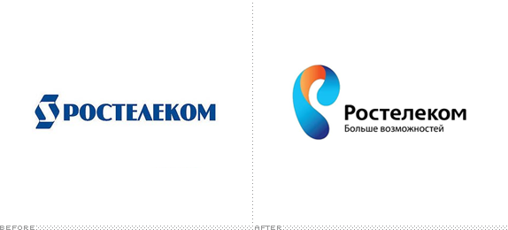 Rostelecom Logo, Before and After