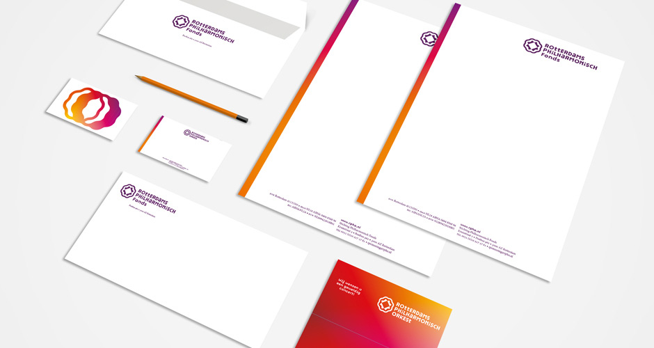 New Logo and Identity for Rotterdams Philharmonisch Orkest by Enchilada and Bureau Bunk