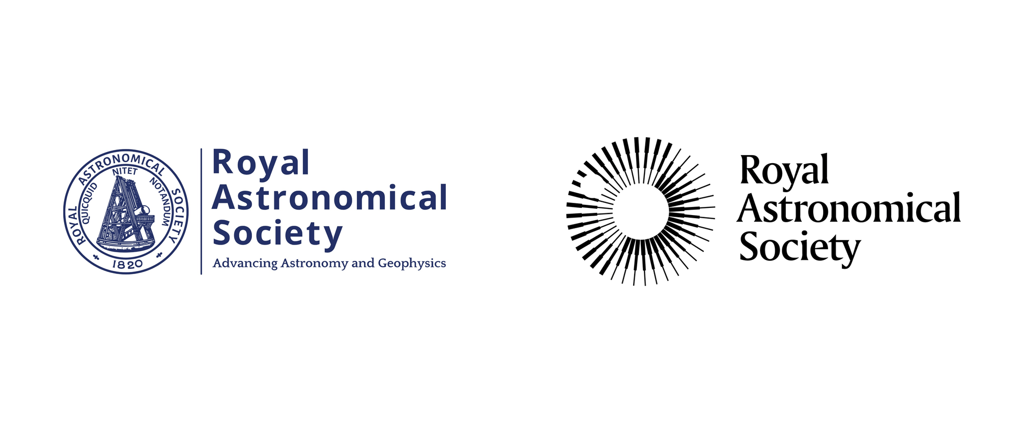 New Logo and Identity for Royal Astronomical Society by Johnson Banks