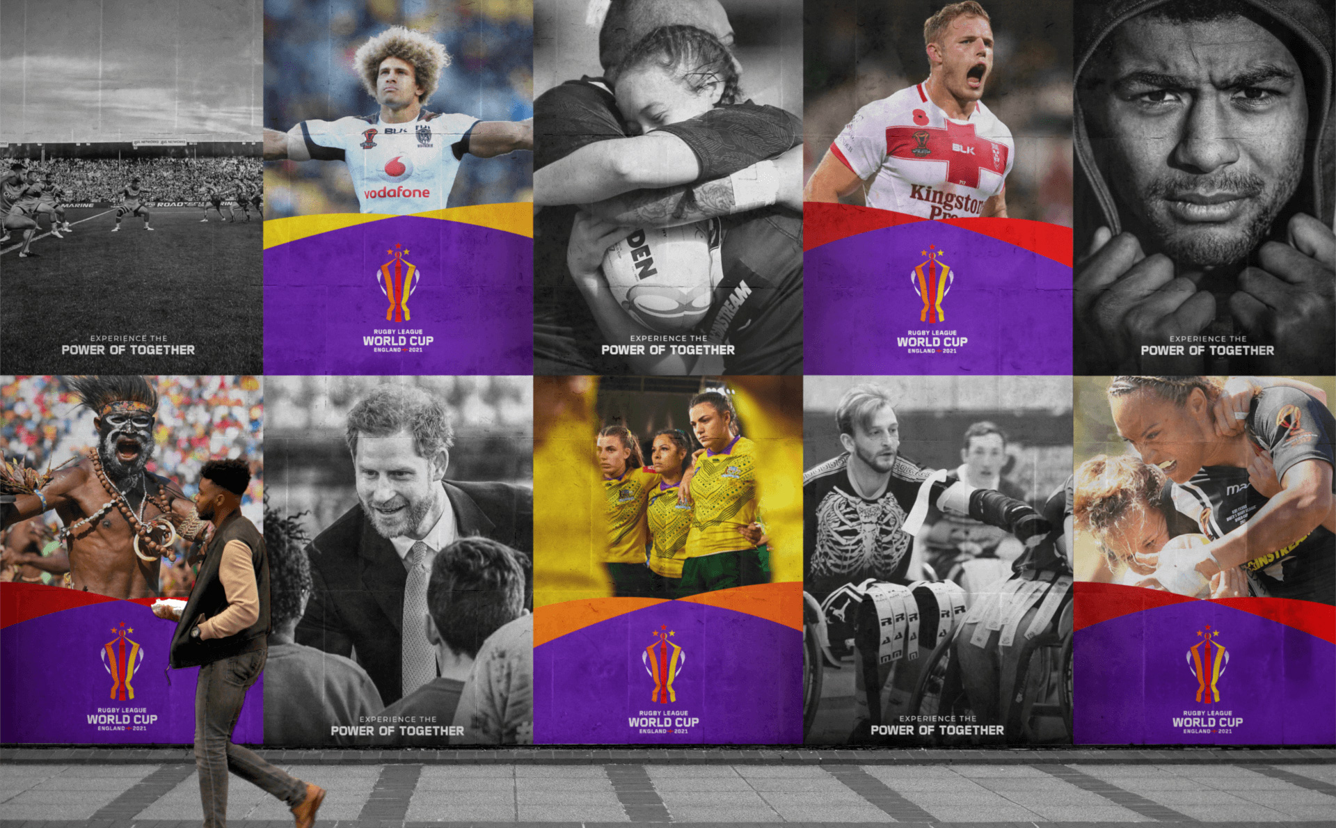 New Logo and Identity for 2021 Rugby League World Cup by Mammoth