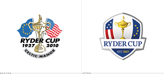 Ryder Cup Logo, Before and After