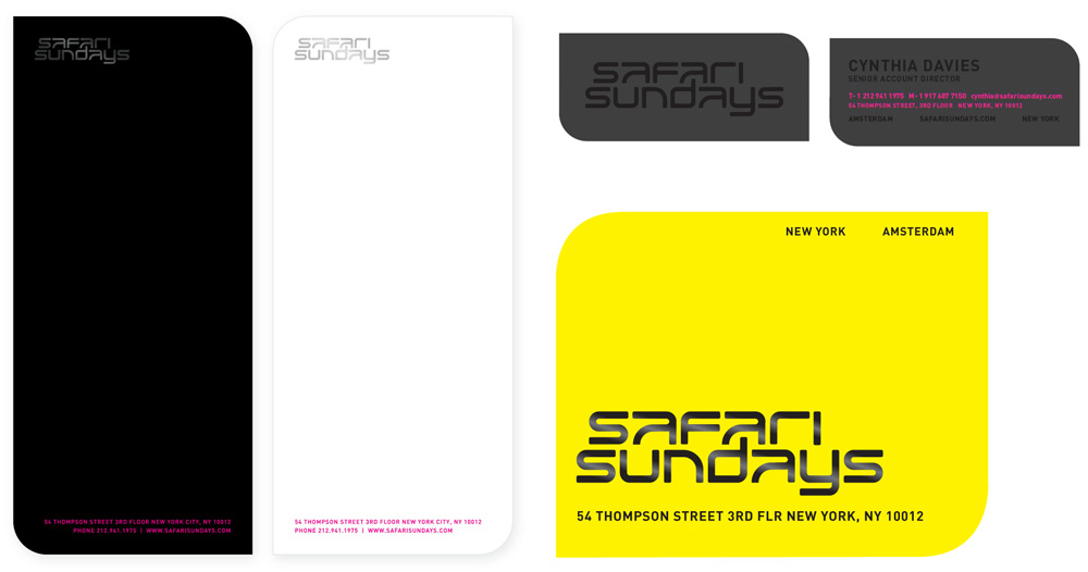 New Logo and Identity by and for Safari Sundays