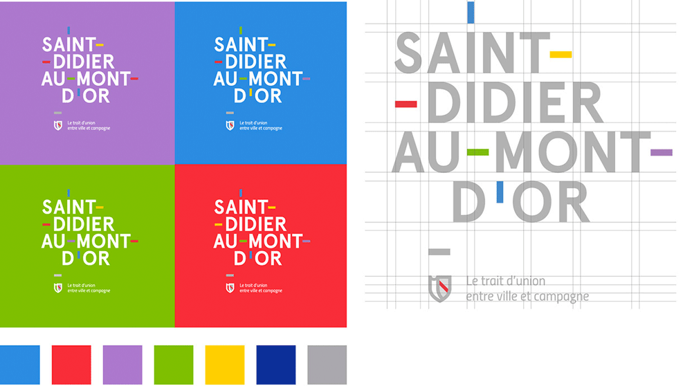 New Logo and Identity for Saint-Didier-au-Mont-d'Or by Graphéine