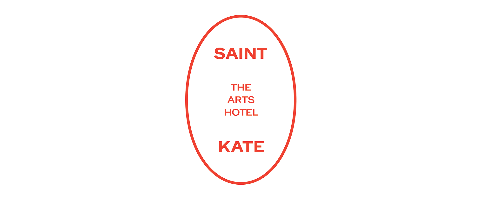 New Logo and Identity for Saint Kate Arts Hotel by One Design Company
