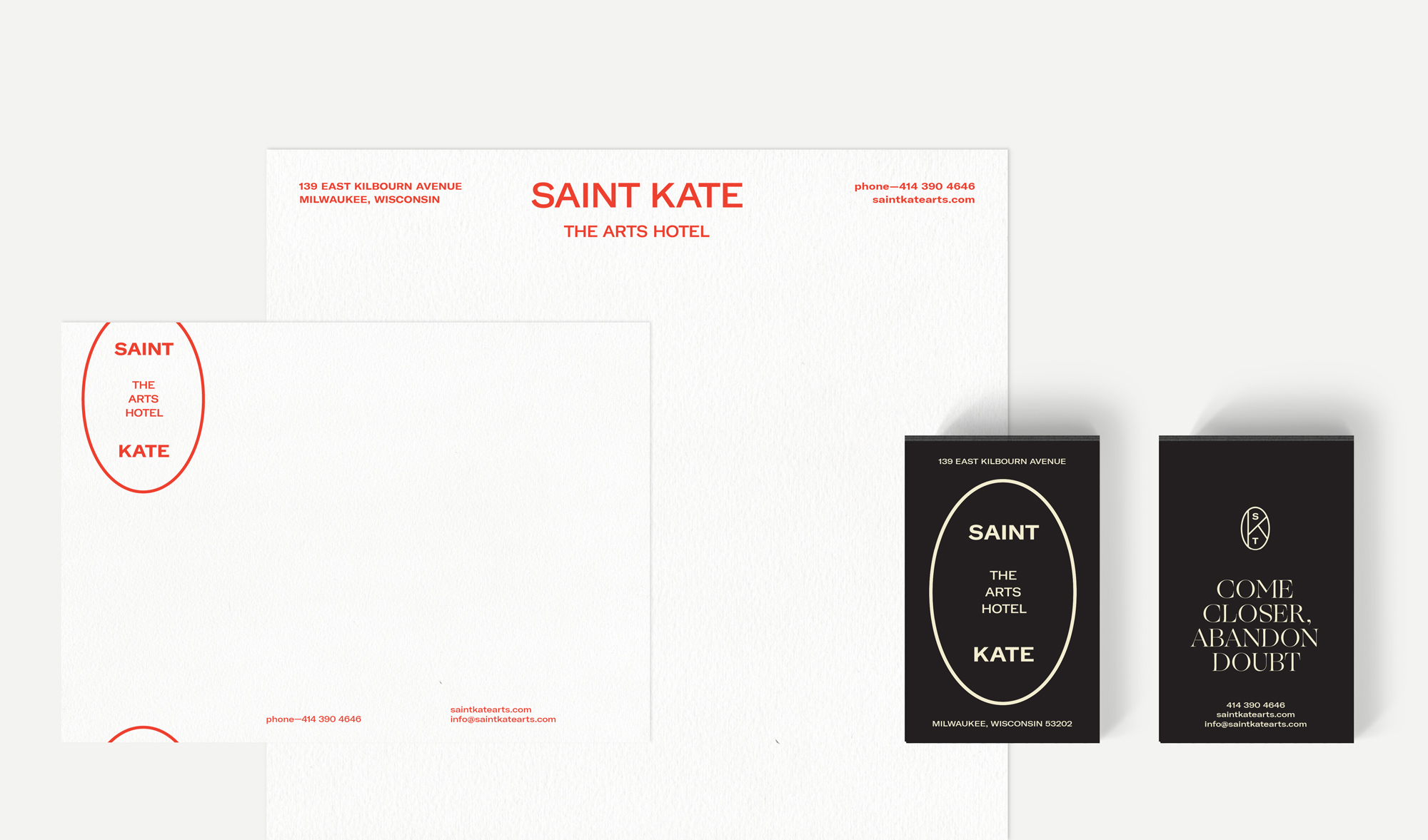 Brand New: New Logo and Identity for Saint Kate Arts Hotel