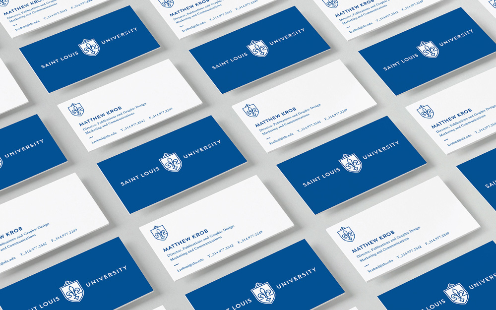 Brand New: Follow-up: New Identity for Saint Louis University by Olson