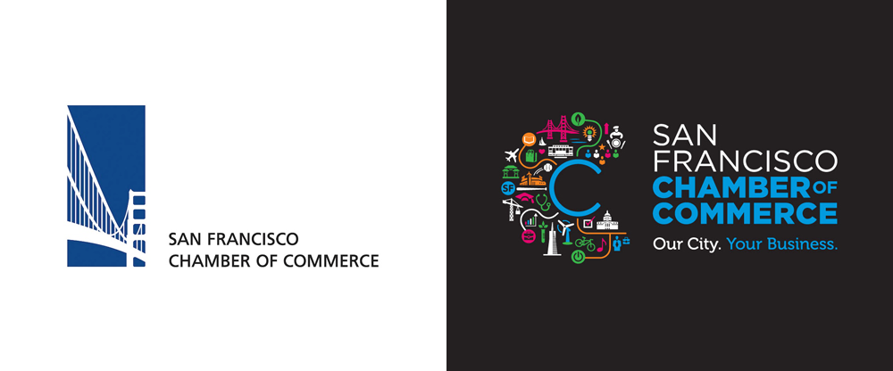 New Logo for San Francisco Chamber of Commerce by Primo Angeli
