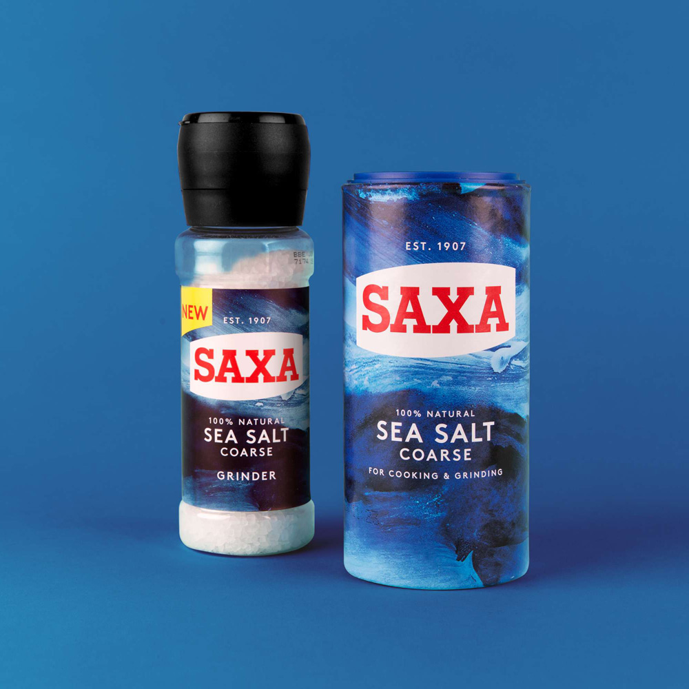 New Logo and Packaging for Saxa by Robot Food