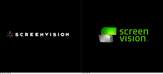 Screenvision Logo, Before and After