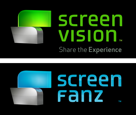 Screenvision Logo and In-theater Experience