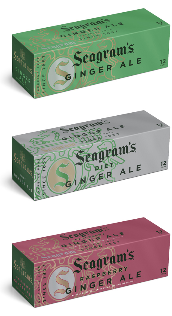 Brand New: Seagram's Gingerly New Look