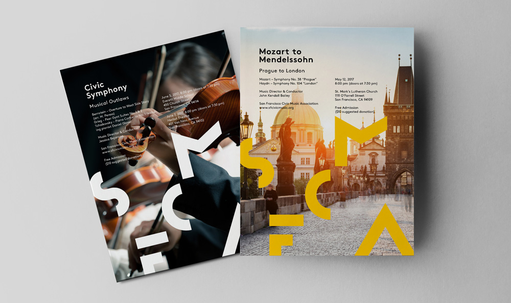 New Logo and Identity for San Francisco Civic Music Association by Kristine Arth