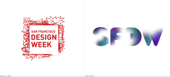 San Francisco Design Week Logo, Before and After