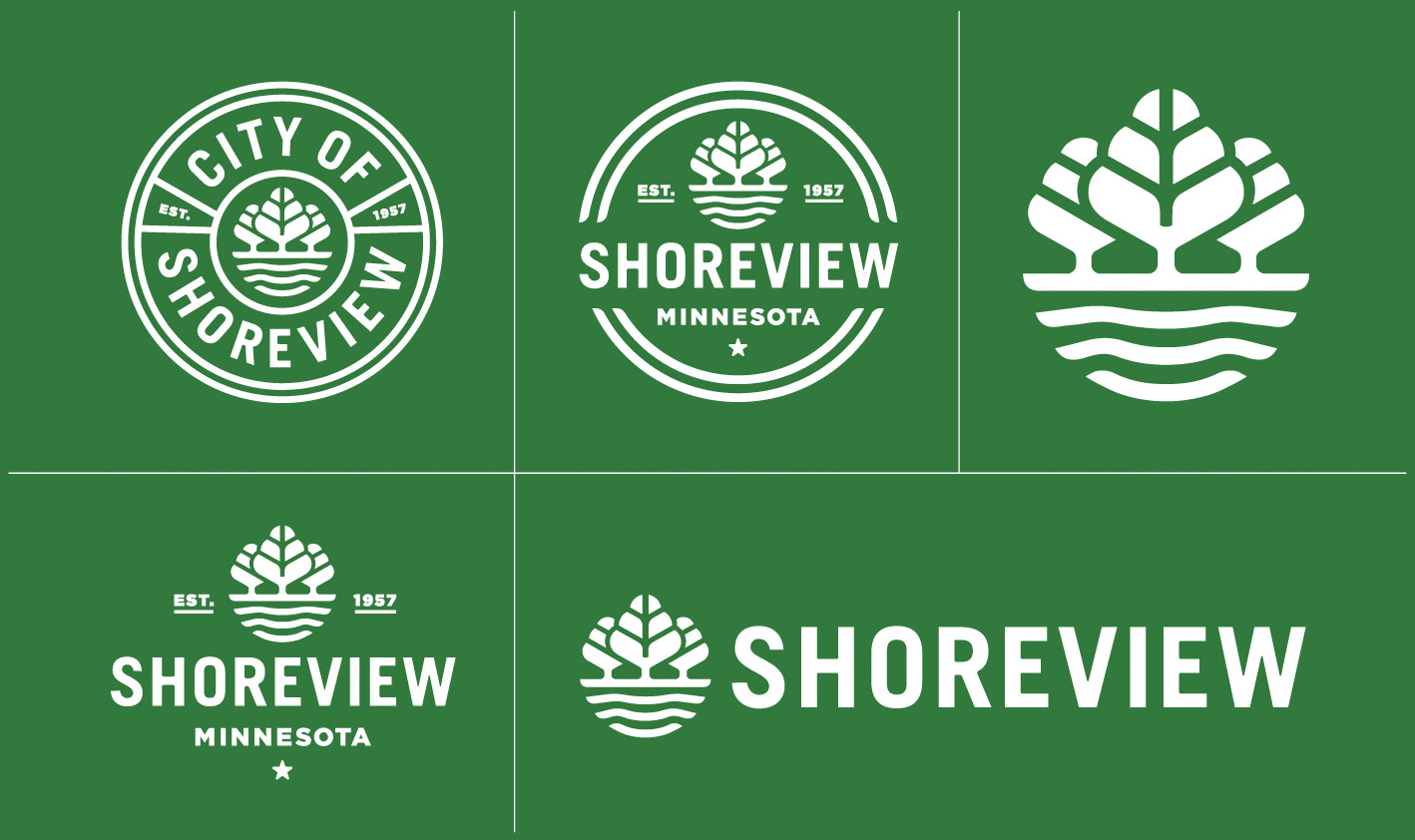 New Logos for Shoreview, MN, by Peters Design Company