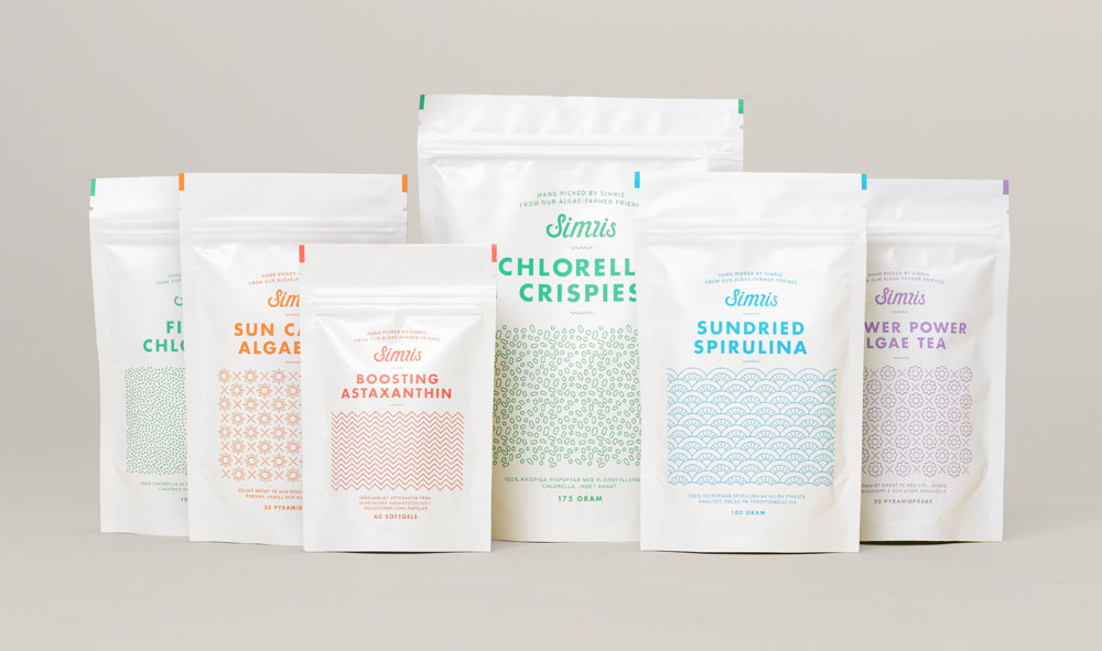 New Logo, Identity, and Packaging for Simris by Snask