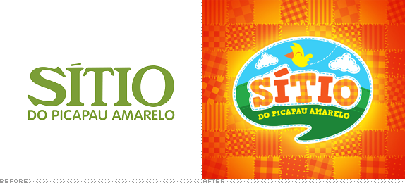Sitio do Picapau Amarelo Logo, Before and After