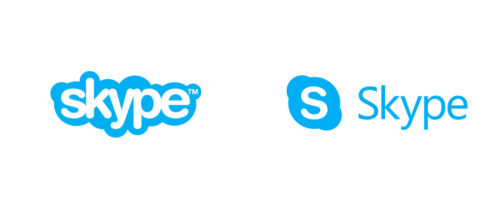 brand new  new logo for skype