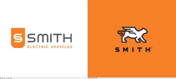 Smith Electric Vehicles Logo, Before and After
