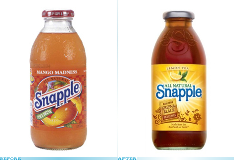Snapple Bottle, Before and After